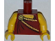 Part No: 973pb1305c01  Name: Torso Toga with Gold Clasp Pattern / Yellow Arms / Yellow Hands