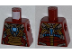Part No: 973pb1380  Name: Torso Armor with Gold Plates and Blue Circle (Arc Reactor) Pattern