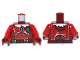 Part No: 973pb1504c01  Name: Torso SW Red Armor Plates, Holly and White Fur Collar Pattern / Red Arms / Dark Red Hands