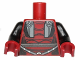 Part No: 973pb1688c01  Name: Torso SW Darth Revan Armor Pattern / Black Arms / Dark Red Hands