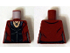Part No: 973pb1943  Name: Torso Female Jacket over Black Top with Necklace Pattern (Scarlet Witch)