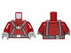 Part No: 973pb1987c01  Name: Torso SW T-16 Skyhopper Pilot Flight Suit with Dark Bluish Gray Harness Pattern / Dark Red Arms / Light Bluish Gray Hands