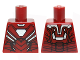 Part No: 973pb2208  Name: Torso Armor with White Hexagonal Reactor and Black and Silver Plates Pattern