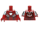 Part No: 973pb2208c01  Name: Torso Armor with White Hexagonal Reactor and Black and Silver Plates Pattern / Dark Red Arms with Iron Man Armor Pattern / Dark Red Hands