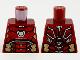 Part No: 973pb3836  Name: Torso Armor, White Circle Arc Reactor, Silver and Gold Trim Pattern