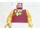 Part No: 973px154c01  Name: Torso Spider-Man Oriental Dress Pattern (Mary Jane) / Yellow Arms / Yellow Hands