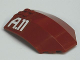 Part No: x224pb015  Name: Windscreen 8 x 6 x 2 Curved with 'A.11' Pattern (Sticker) - Set 7714