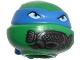 Part No: 12607pb14  Name: Minifigure, Head Modified Ninja Turtle with Blue Mask and Breathing Apparatus Pattern (Leonardo)