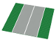 Part No: 2358p03  Name: Baseplate, Road 32 x 32 7-Stud Straight with Plain Runway Wide Pattern