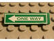 Part No: 2431pb029  Name: Tile 1 x 4 with Green 'ONE WAY' on White Arrow Pattern (Sticker)