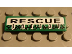 Part No: 2431pb035  Name: Tile 1 x 4 with 'RESCUE patrol' Pattern (Sticker) - Set 8255