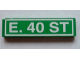 Part No: 2431pb053  Name: Tile 1 x 4 with 'E. 40 ST' Pattern (Sticker) - Set 4850