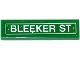 Part No: 2431pb433  Name: Tile 1 x 4 with 'BLEEKER ST' Pattern (Sticker) - Set 76058