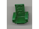Part No: 2717pb02  Name: Technic, Seat 3 x 2 Base with Green Oval Cushions on Green Pattern (Sticker) - Set 8213