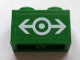 Part No: 3004pb092  Name: Brick 1 x 2 with Train Logo White Large Pattern (Sticker) - Sets 4511 / 10158