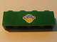 Part No: 3010pb123  Name: Brick 1 x 4 with Box and Arrows and Globe on Green Background Pattern (Sticker) - Set 7633