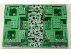 Part No: 30271px2  Name: Baseplate, Raised 32 x 48 x 6 with 4 Corner Pits and Rock Path Pattern