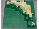 Part No: 30473px1  Name: Baseplate, Raised 32 x 32 Foothill with Tan Dirt Pattern