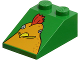 Part No: 30474pb07  Name: Slope 33 3 x 2 Smooth with McDonald's Chicken Head Pattern