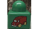 Part No: 31000pb06  Name: Primo Brick 1 x 1 with Red Truck Pattern on Two Sides
