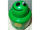 Part No: 31005pb14  Name: Primo Brick, Round Rattle 1 x 1 with Face and Yellow Spots Pattern