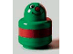 Part No: 31005pb20  Name: Primo Brick, Round Rattle 1 x 1 with Face and Red Stripe Pattern