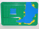 Part No: 31073px1  Name: Duplo, Baseplate Raised 16 x 24 with Ramp and Waterfall and Pond Pattern