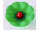 Part No: 31631cx1  Name: Primo Plant Rubber Flower 3 x 3 with 8 Petals and Red Center Stud