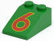 Part No: 3298pb014  Name: Slope 33 3 x 2 with Red Number 6 Pattern