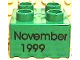 Part No: 3437pb037  Name: Duplo, Brick 2 x 2 with November 1999 Pattern
