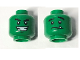 Part No: 3626cpb1364  Name: Minifigure, Head Dual Sided Black Eyebrows, White Pupils, Wide Smile / Nervous with Tooth Pattern (Beast Boy) - Hollow Stud