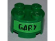 Part No: 3941pb08  Name: Brick, Round 2 x 2 with Axle Hole with Black 'GARY' Pattern on Both Sides (Stickers) - Set 3834