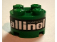 Part No: 3941pb13  Name: Brick, Round 2 x 2 with Axle Hole with 'POWERED BY allinol' Pattern (Sticker) - Set 8206