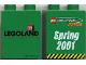 Part No: 4066pb007  Name: Duplo, Brick 1 x 2 x 2 with Technic Coaster 2001 Pattern