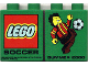 Part No: 4066pb010  Name: Duplo, Brick 1 x 2 x 2 with Summer 2000 LEGO Soccer Pattern
