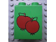 Part No: 4066pb089  Name: Duplo, Brick 1 x 2 x 2 with Two Apples Pattern