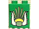 Part No: 4066pb099  Name: Duplo, Brick 1 x 2 x 2 with Sun and Horns Pattern