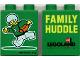 Part No: 4066pb128  Name: Duplo, Brick 1 x 2 x 2 with Legoland Family Huddle Pattern