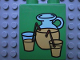 Part No: 4066pb157  Name: Duplo, Brick 1 x 2 x 2 with Lemonade Pitcher and Glasses Pattern