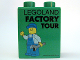 Part No: 4066pb344  Name: Duplo, Brick 1 x 2 x 2 with Factory Tour with Minifigure Holding Wrench in Left Hand Pattern