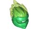 Part No: 41163pb03  Name: Minifigure, Headgear Ninjago Wrap Type 5 with Trans-Bright Green Energy Effect Pattern