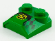 Part No: 41855pb01  Name: Brick, Modified 2 x 2 x 2/3 Two Studs, Lip End with '3' and Checkered Pattern