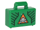 Part No: 4449pb05  Name: Minifigure, Utensil Briefcase with Black Lines and White Skull and Crossbones in Orange Triangle Pattern (Sticker) - Set 76050