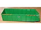 Part No: 57781pb01  Name: Vehicle, Tipper Bed 24 x 7 with 'L.C.B.' and Black and Yellow Danger Stripes Pattern on Both Sides (6 Stickers) - Set 7998
