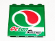 Part No: 60581pb027L  Name: Panel 1 x 4 x 3 with Side Supports - Hollow Studs with Octan Logo and 'Octan Racing' Pattern Model Left Side (Sticker) - Set 60025
