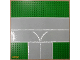 Part No: 608px1  Name: Baseplate, Road 32 x 32 9-Stud T Intersection with Runway 'V' Pattern
