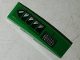 Part No: 61678pb114L  Name: Slope, Curved 4 x 1 No Studs with Vent Holes Pattern Model Left Side (Sticker) - Set 70641