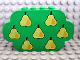 Part No: 6214px1  Name: Slope, Curved 8 x 2 x 4 Triple with Eight Studs with 7 Pears Pattern
