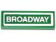 Part No: 63864pb027  Name: Tile 1 x 3 with 'BROADWAY' Pattern (Sticker) - Set 79118