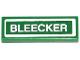 Part No: 63864pb028  Name: Tile 1 x 3 with 'BLEECKER' Pattern (Sticker) - Set 79118